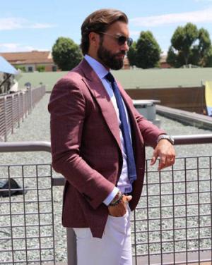 استایل رسمی با کت رنگی