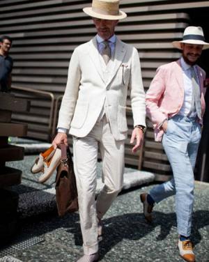 کت شلوار سفید رسمی