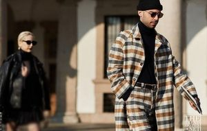 کت شلوار چارخونه جذاب